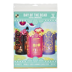 Die Cuts With A View Day Of The Dead Lumanaries Paper Kit