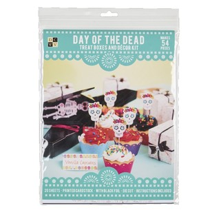 Die Cuts With A View Day Of The Dead Treat Decor Paper Kit