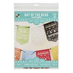 Die Cuts With A View Day Of The Dead Banner Paper Kit