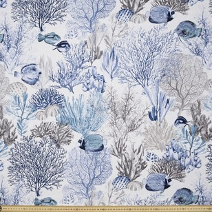 Reef Printed Uncoated Decorator Fabric