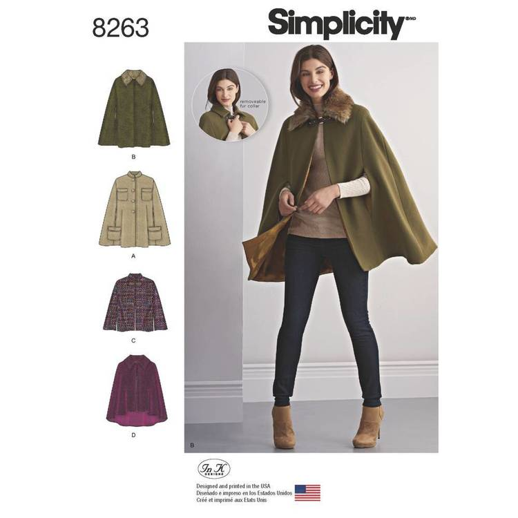 Simplicity Pattern 8263 Capes & Capelets