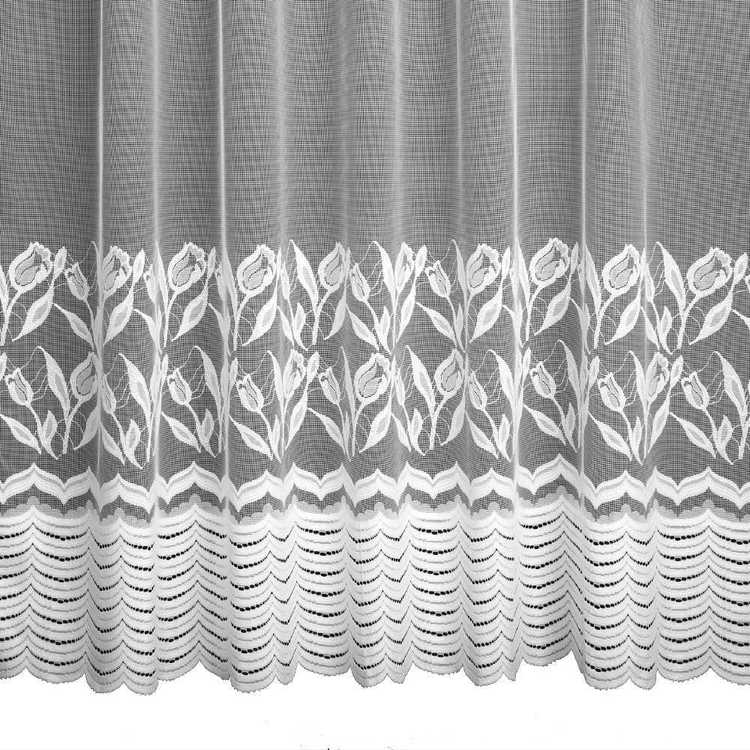 Caprice Annika Lace-Pack Pencil Pleat Sheer Curtains White