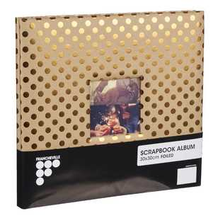 Francheville Kraft Gold Dot Scrapbook