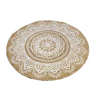 Hot Buy Mendala Printed Round Jute Seb