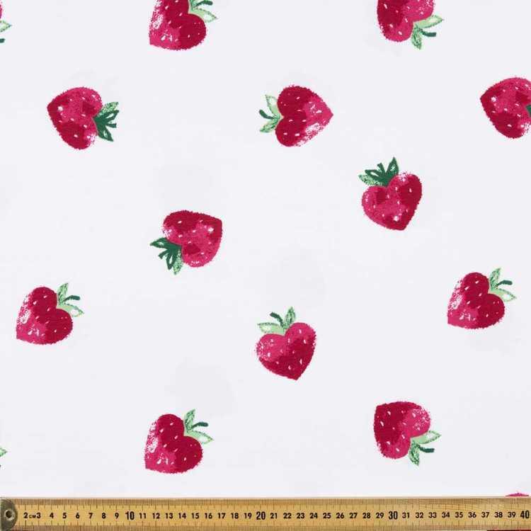 Strawberry Printed Cotton Spandex