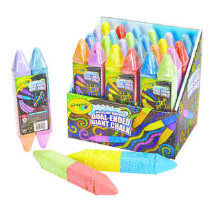 Crayola Washable Dual Ended Giant Sidewalk Chalk