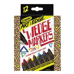 Crayola Art With Edge Wedge Markers