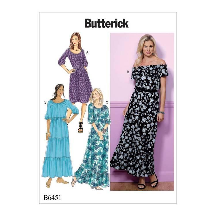 Butterick Pattern B6451 Dresses