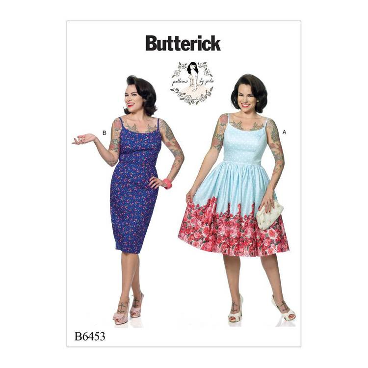 Butterick Pattern B6453 Seam Dresses