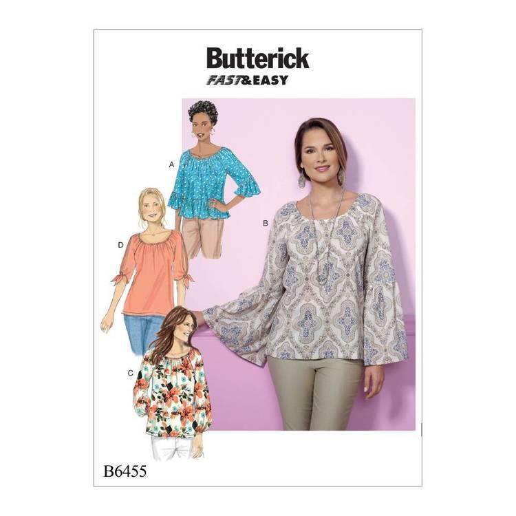 Butterick Pattern B6455 Sleeve Tops