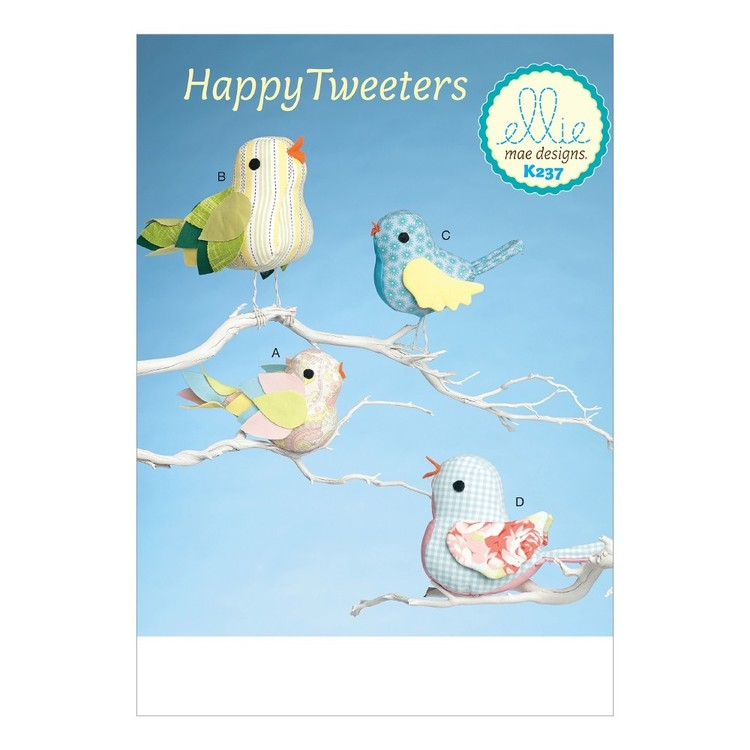 Kwik Sew Pattern K0237 Bird Decorations