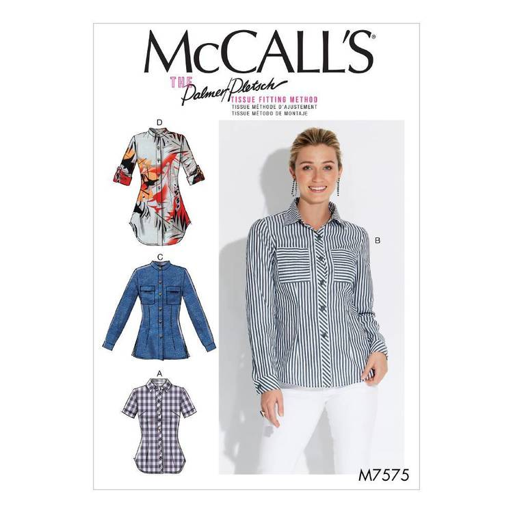 McCall's Pattern M7575 Shirts
