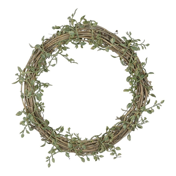 Mini Leaf Twig Wreath