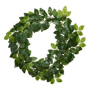 Ficus Leaves Wreath