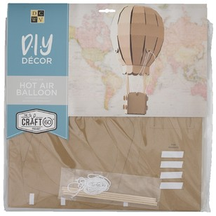 Die Cuts With A View 3D Hot Air Balloon Flute Kraft Paper Pads