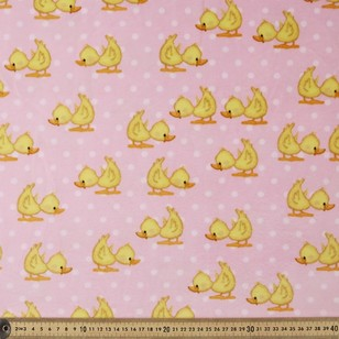 Nursery Minky Ducks Printed Polar Fleece