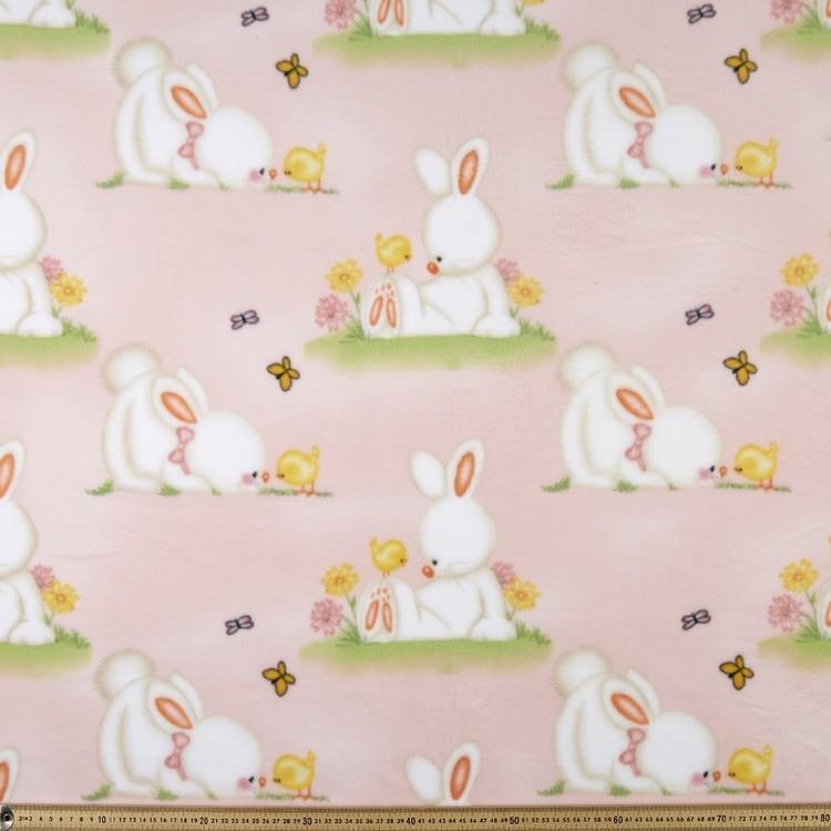 Microfleece Rabbit Printed Polar Fleece