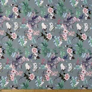 Oriental Bird Printed Cotton Sateen