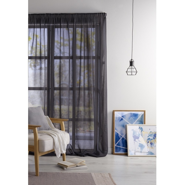 Filigree Breamlea 280 cm Sheer Pencil Pleat Cut, Hem & Hang Curtain Fabric
