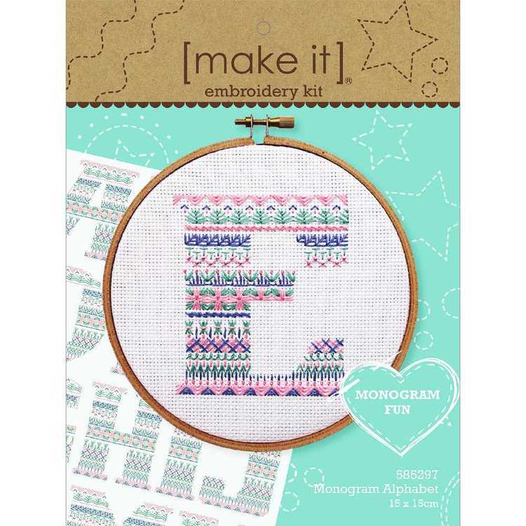 Make It Monogram Alphabet Cross Stitch Kit