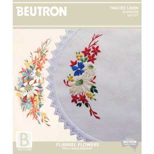 Beutron Flannel Flowers Embroidery