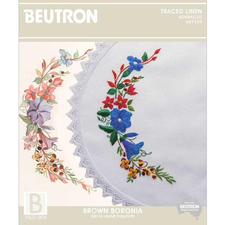 Beutron Brown Boronia Embroidery
