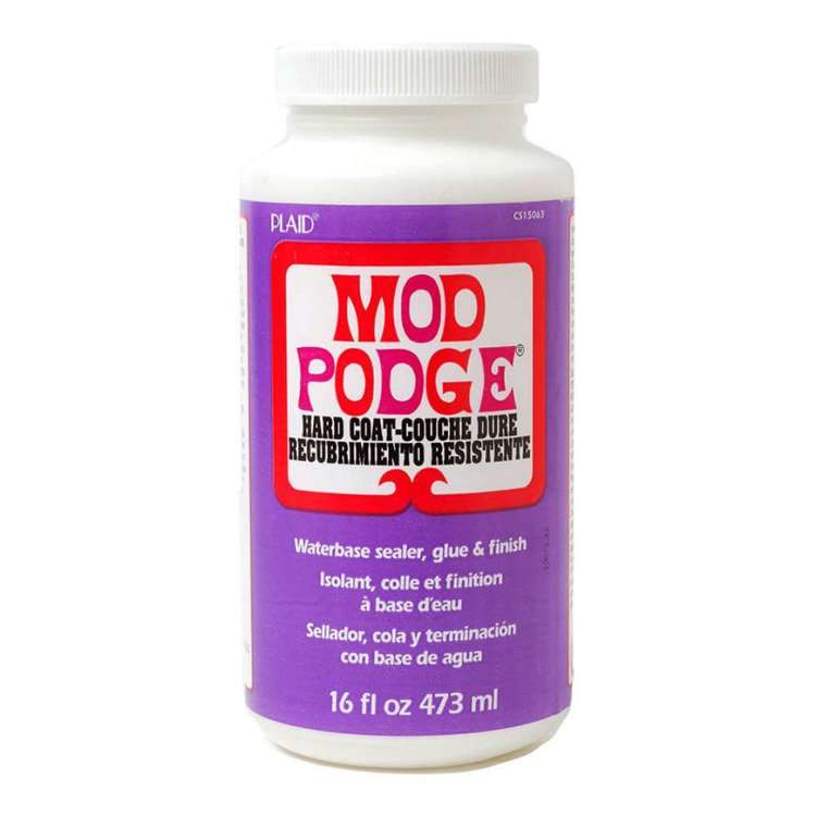 Birch Mod Podge Waterbase Sealer Glue Finish Hardcoat Purple 16 oz