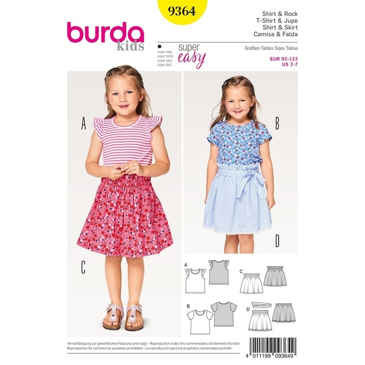 Burda Pattern B9364 Shirt & Skirt