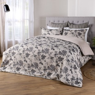 KOO Elite Monochrome Floral Quilt Cover Set