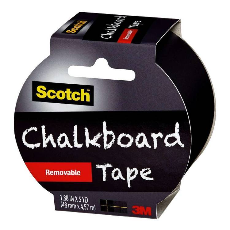 Scotch Remove Chalkboard Tape Black