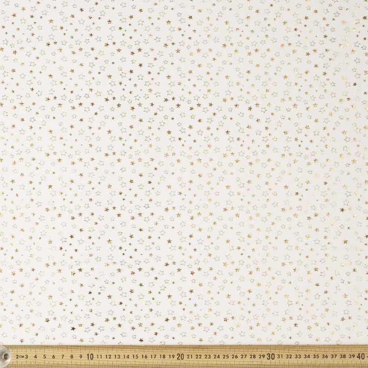 Foil Print Star Tulle
