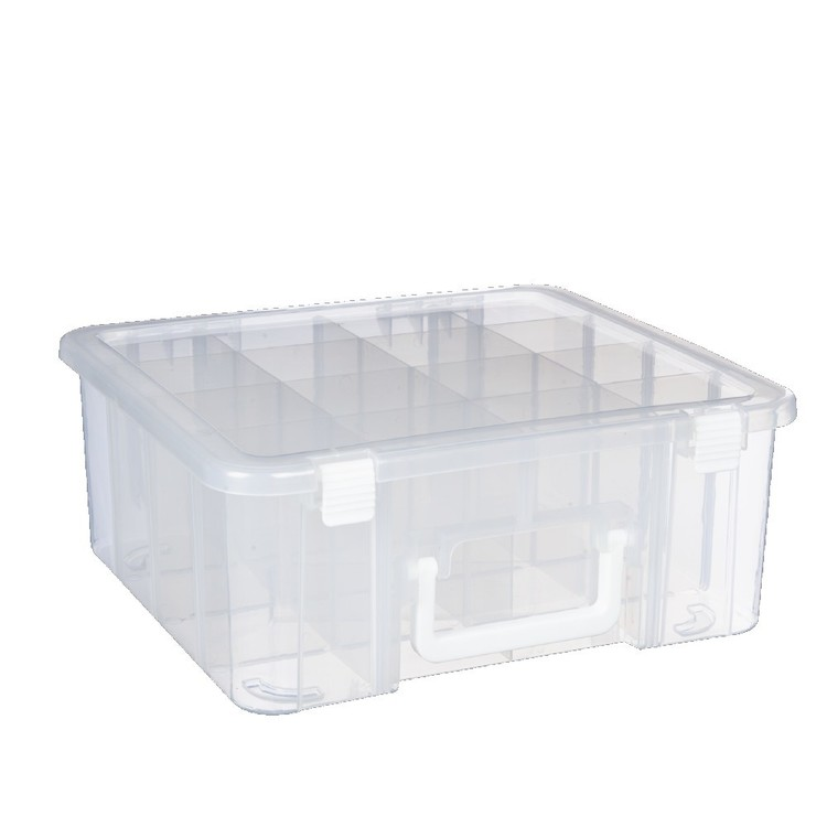 Francheville Storage Box With Dividers & Handle Natural