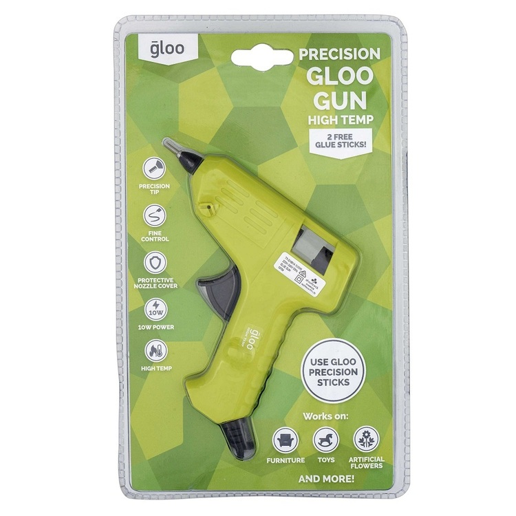 Gloo High Temperature Precision Tip Glue Gun Lime Green