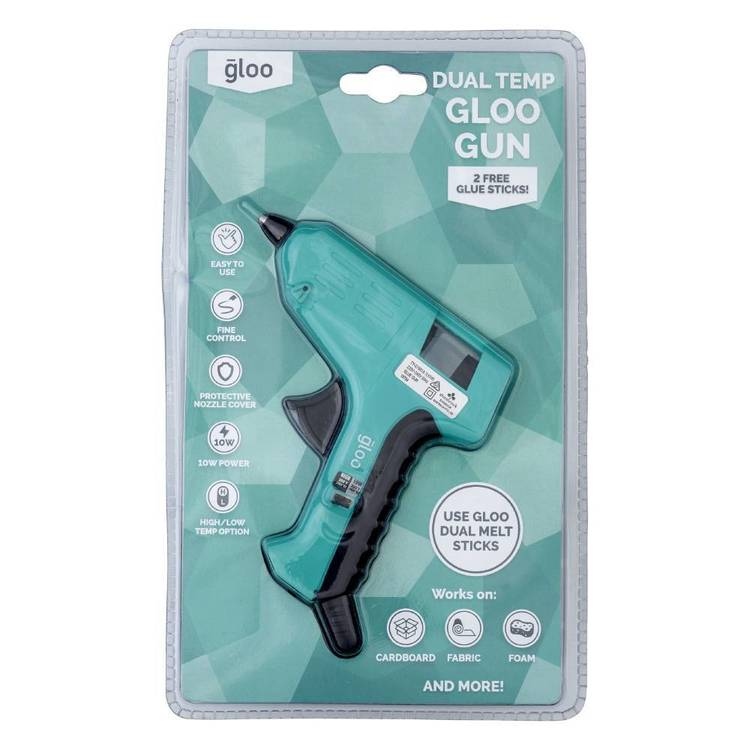 Gloo Dual Temperature Low & High Glue Gun Turquoise