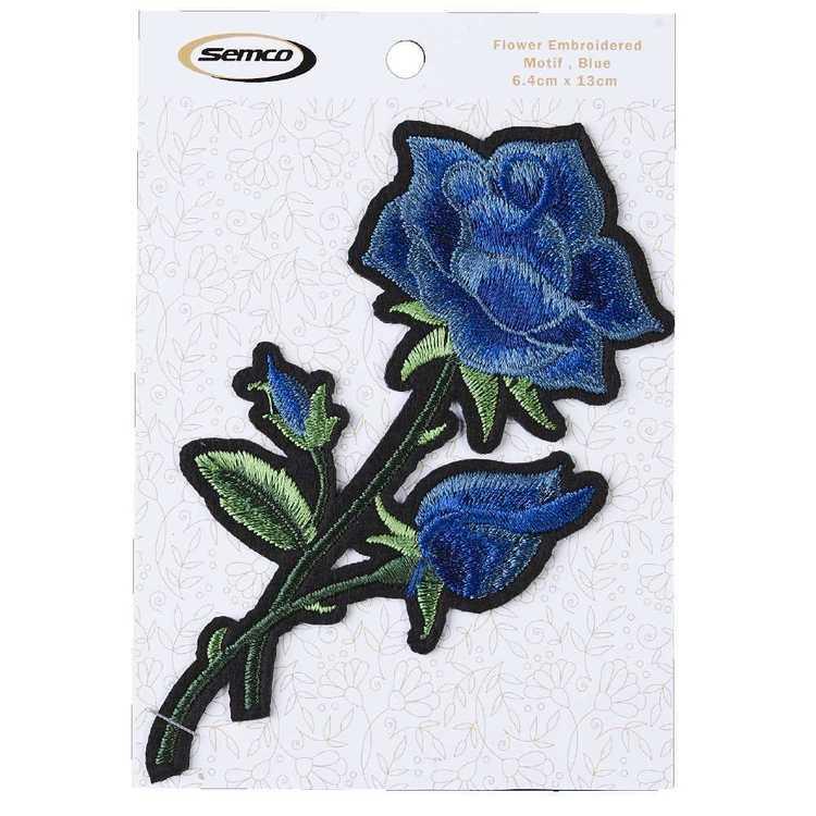 Semco Flower Embroidered Motif