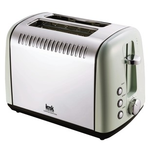 IMK Pro Colour 2 Slice Stainless Steel Toaster