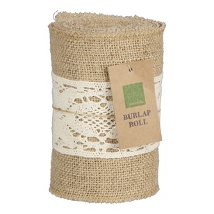 Burlap Roll With Centre Lace