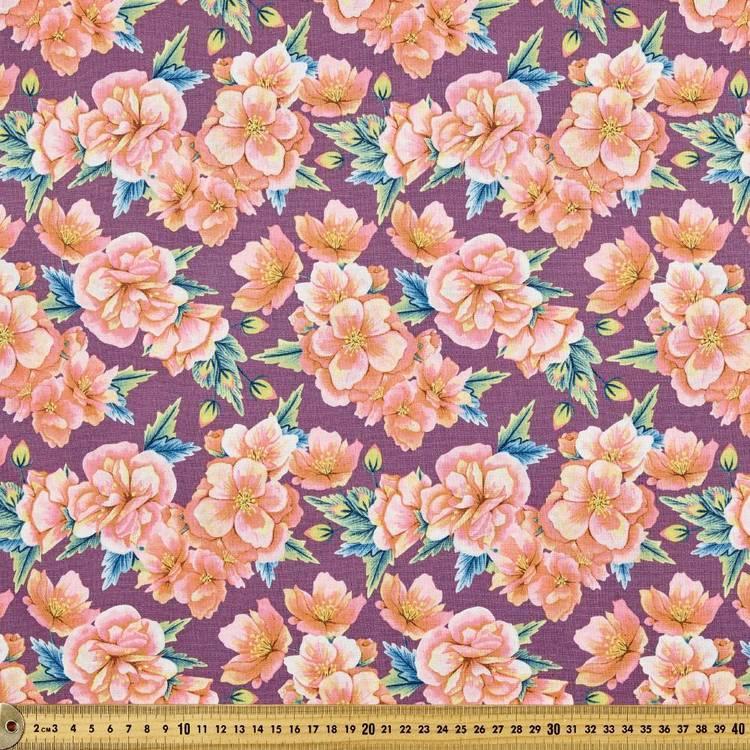 Budgie Serenade Tropical Florals Fabric