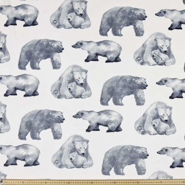 Bears Cuddle Fleece White 148 cm