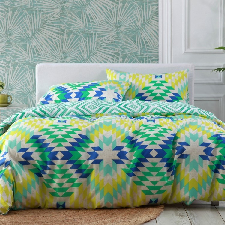 Brampton House Tahiti Quilt Cover Set Lime - Everyday Bargain