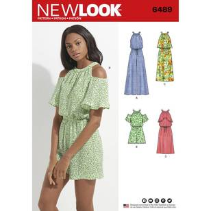 New Look Pattern 6489 Misses Jumpsuit, Romper And Dress