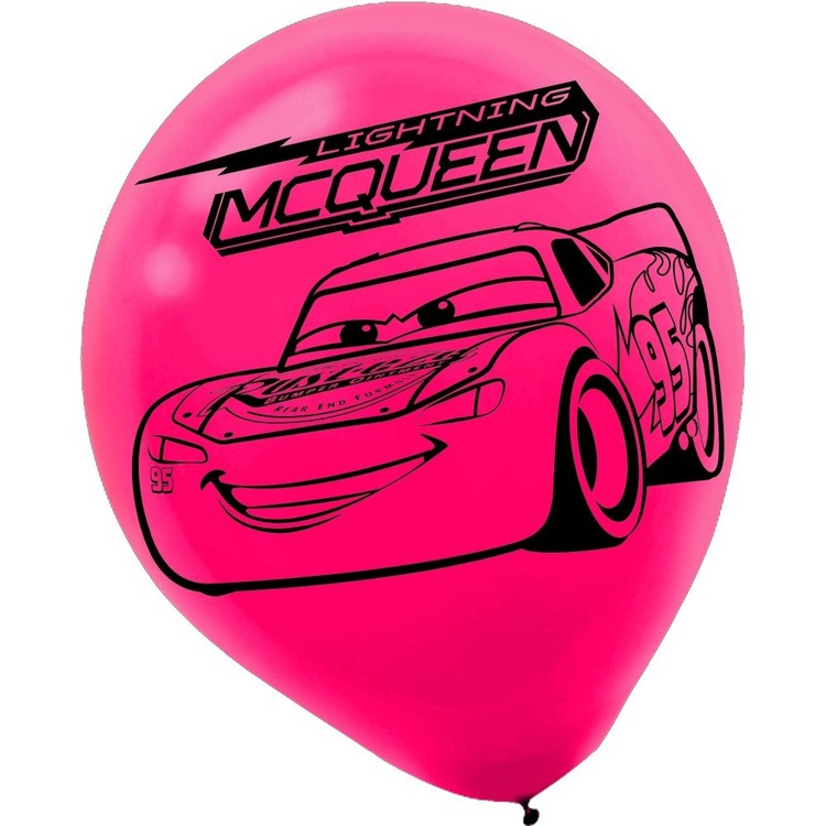 Cars 3 Latex Balloon Red & Yellow 12 in