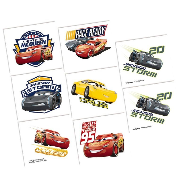 Cars 3 Tattoo Favours
