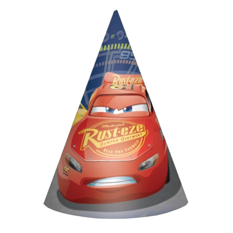 Cars 3 Paper Cone Hats
