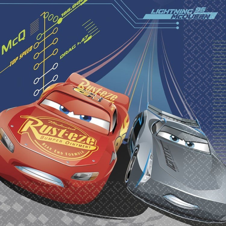 Cars 3 Square Plate