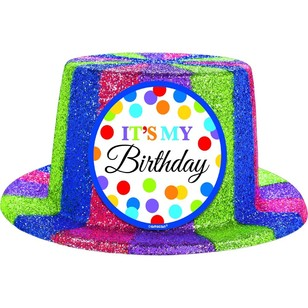 Amscan Sparkle Bright Birthday Top Hat