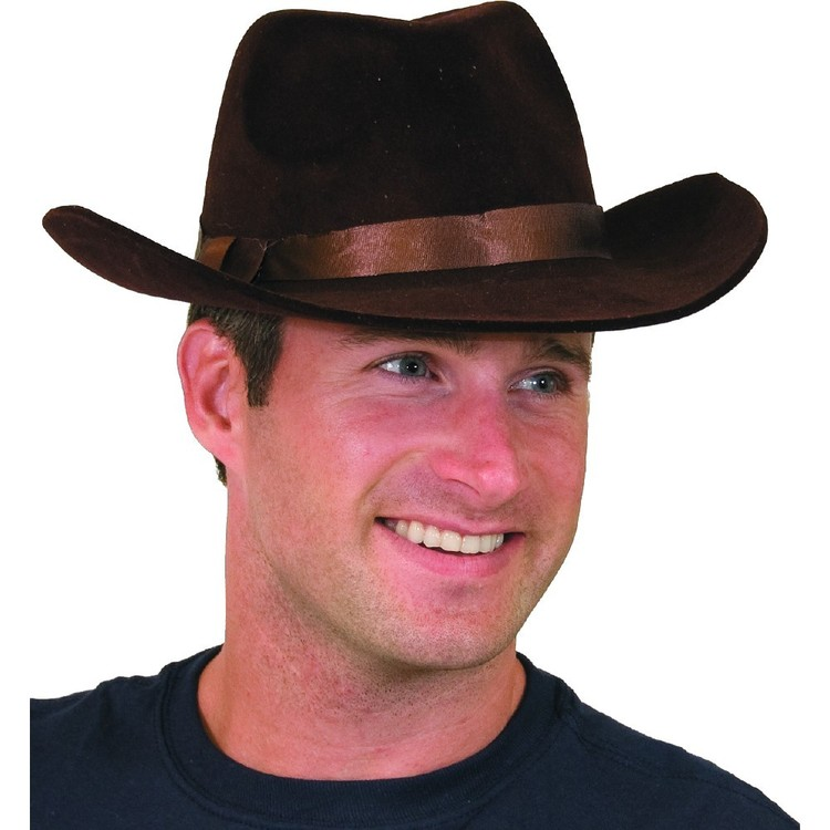 Amscan Flocked Brown Cowboy Hat