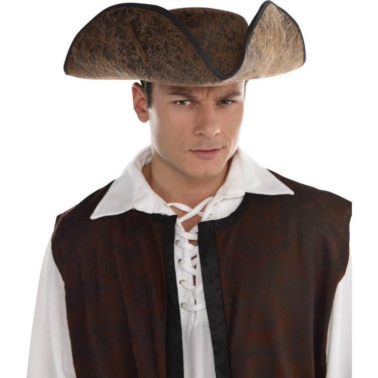Amscan Pirate Ahoy Matey Brown Hat