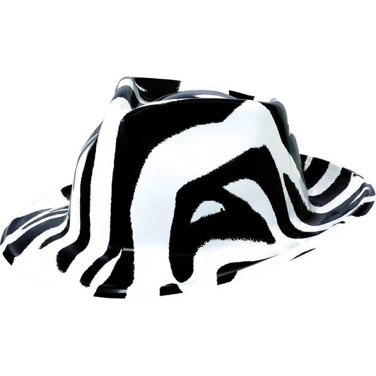 Amscan 80'S Black And White Zebra Fedora
