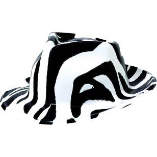 Amscan 80'S Black And White Zebra Fedora
